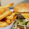 Photo of fast food burger and french fries