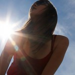 Photo of a woman in the sun