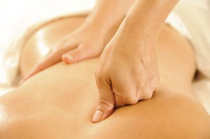 Photo of a back massage