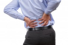 Photo of a man with back pain