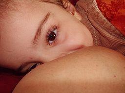 Photo of a bab y breastfeeding