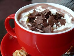 Photo of a cup of hot chocolate