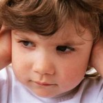 Photo of a child with earache