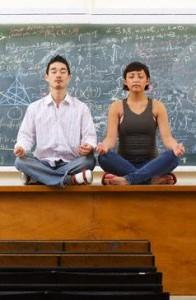 Photo of student's meditating