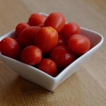 Photo of a bowl of cherry tomatoes