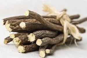 Photo of dried liquorice root