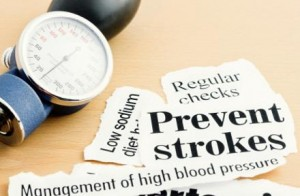 Photo of newspaper headlines about stroke prevention