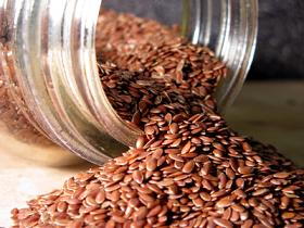 Photo of flax seed in a jar