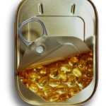 Photo of fish oil capsules in a sardine tin