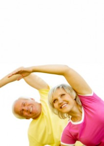 Photo of older adults exercising