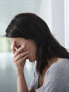 Photo of a woman looking depressed