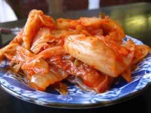 Photo of a dish of kimchi