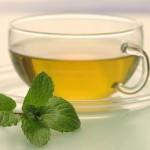 Photo of a cup of peppermint tea