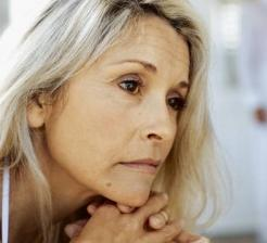 Photo of a middle aged woman with depression