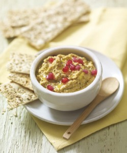 Hummus with coriander dip