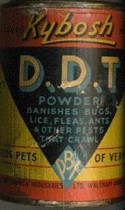 Photo of an old cannister of DDT