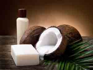 Photo of coconuts and coconut oil