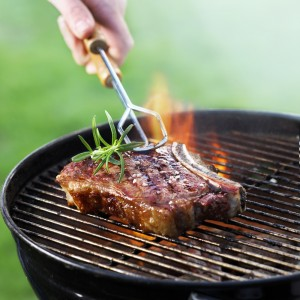 Photo of a steak on a barbecue
