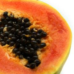 Close -up photo of a papaya