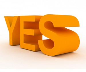 """Photo of large letters spelling """"yes"""""""