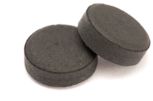 Photo of activated charcoal tablets