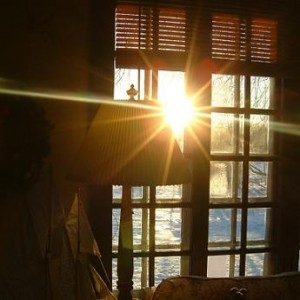 Photo of a sunny window