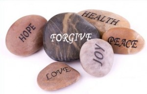 Photo of stones with words written on them