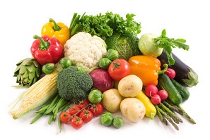 Photo of fresh vegetables