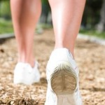 Photo of feet walking on a path