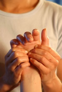 Photo of hand shiatsu massage