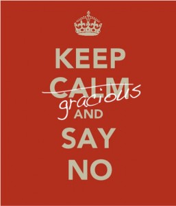 Poster about saying no