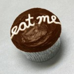 Photo of a chocolate cupcake
