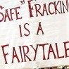 Photo of a fracking protest sign
