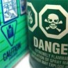"Photo of a pesticide label saying ""danger"""