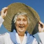 Photo of a lady in a sunhat