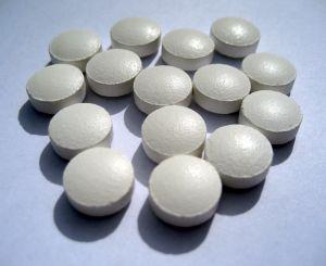 Photo of zinc tablets