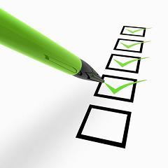 photo illustrating a priorities checklist