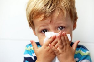 Photo of a toddler with a cold
