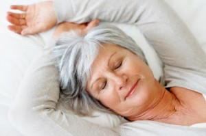 photo of an older woman sleeping