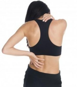 Photo of a woman with neck and back pain