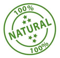 100% natural label