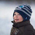 photo of a child in winter