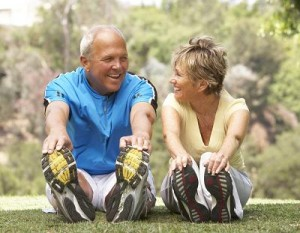 photo of older people exercising
