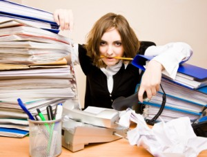 Photo of a busy woman