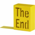 Bookend saying 'the end'