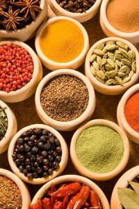 photo of pots of spices