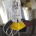 photo of an airline oxygen mask