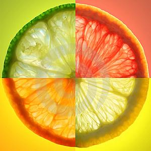 Composite photo of citrus slices