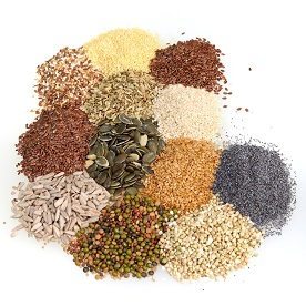 Photo fo seeds adn wholegrains
