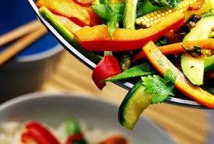 Photo of a vegetable stir fry